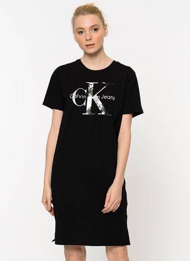 Yarım Kol Kısa Elbise-Calvin Klein